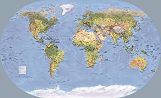 """World Wall Map of Global Shipping Routes - 54"""" x 33"""" Paper"""