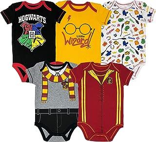 Warner Bros. Harry Potter Hogwarts Baby Boys' Multipack Bodysuits