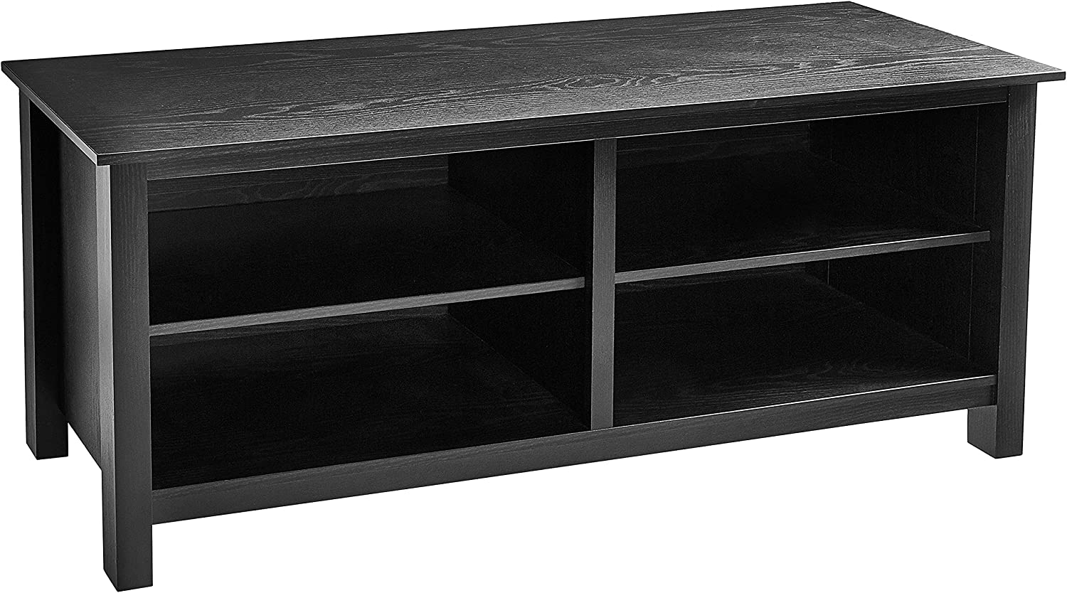 """ROCKPOINT TV Stand Storage Media Console for TV's up to 65 Inches 58"""" with 4 Storage Shelves,Rustic Oak"""