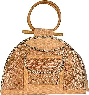 Roy Jute Handicrafts Women's Jute Handbag (RJH 07, Biscuit)