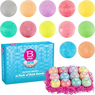 Spa Bath Bombs Gift Set – Pack of 12 Colorful Individually Wrapped 80g Bath Bomb Fizzies in a Variety of Fruity, Floral & Tropical Fragrances – Perfect Gift idea For Women & Kids
