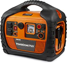 Wagan EL7561 Orange Dome PLEX Battery Portable 1000 Amps Jump Starter Air Compressor 800W Peak Surge Power Inverter (Renewed)