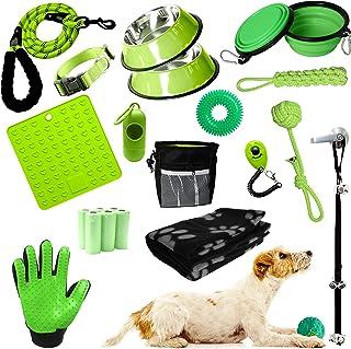 Setonware 23pc Cute Puppy Starter Kit - Puppy Supplies, Accessories, & Essentials. New Puppy Kit has Feeding Bowls, Traini...