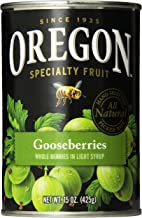 Oregon Fruit Gooseberries, Light Syrup, 15 oz (Pack of 8)