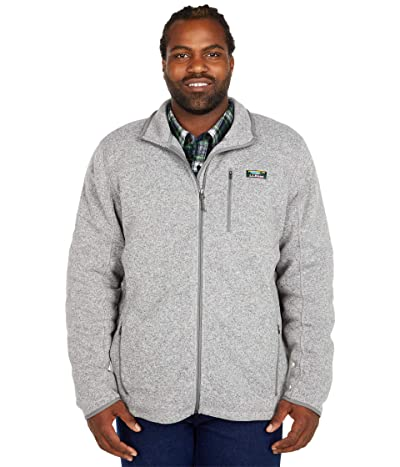 L.L.Bean Sweater Fleece Full Zip Jacket Tall (Grey Heather) Men
