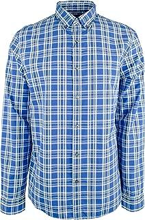 Men's Slim Fit Check Cotton Long Sleeve Shirt