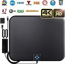 [2020 Latest] Amplified HD Digital TV Antenna Long 180 Miles Range – Support 4K..