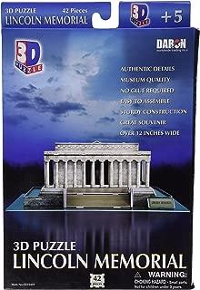 Daron Lincoln Memorial 3D Puzzle, 42-Piece