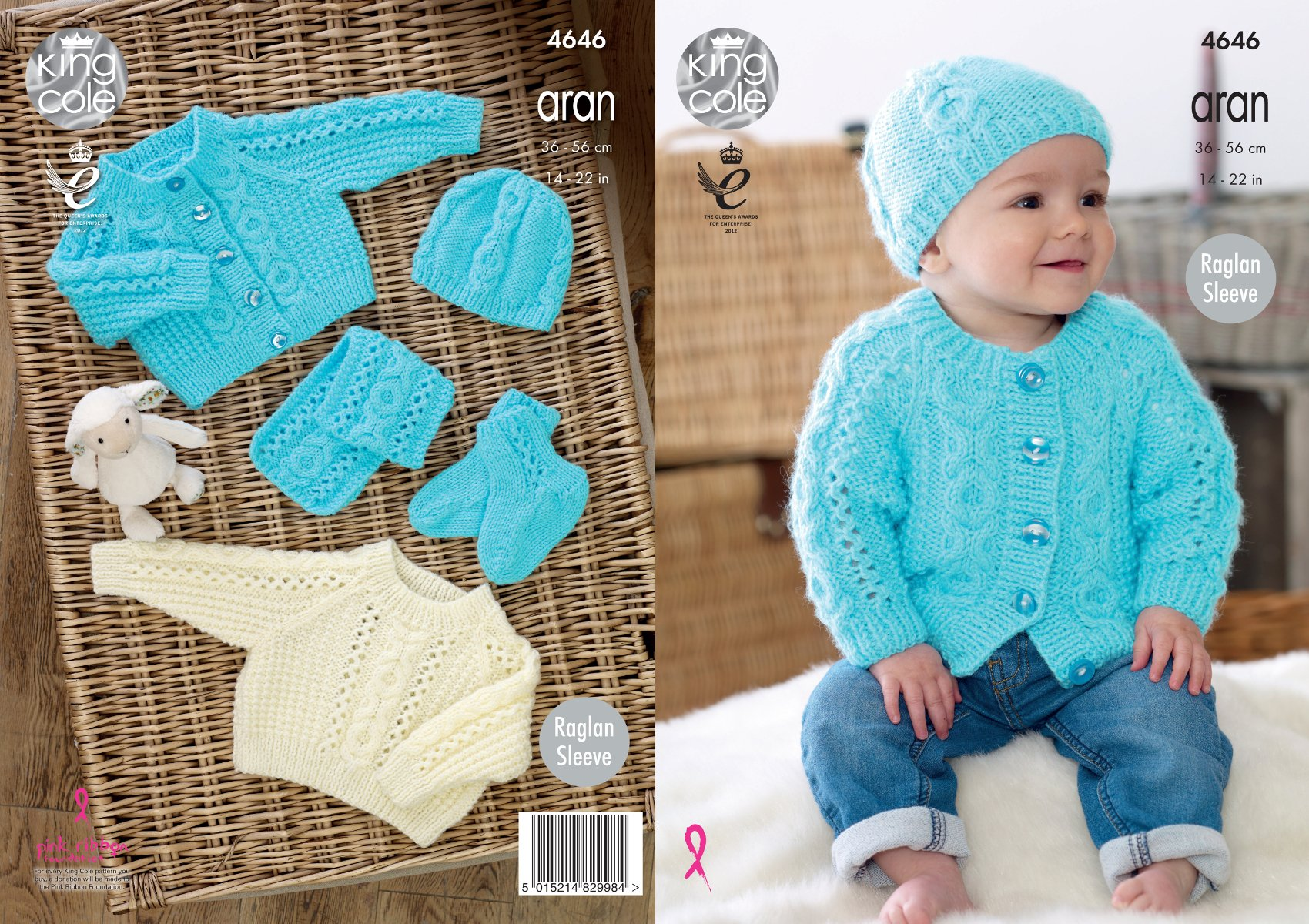 Cabled Raglan Baby Sweater Pattern - Sewing Patterns for Baby