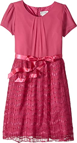 Us Angels - Cap Sleeve Dress with Sparkle Ribbon (Big Kids)