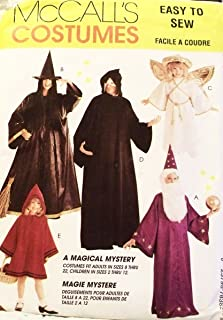OOP McCall's Costume Pattern 7838. Adult Szs S; M; L; XL Wizard; Witch; Angel; Phantom; Red Riding Hood Costumes