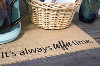 Coffee Maker Mat - Burlap Placemat for your Keurig