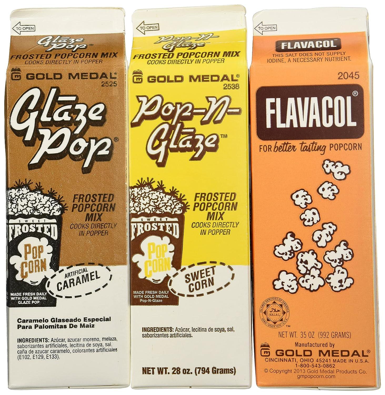 Flavacol Salt and Glaze Pop Flavoring SET 3 - Selling rankings Virginia Beach Mall Pack 10