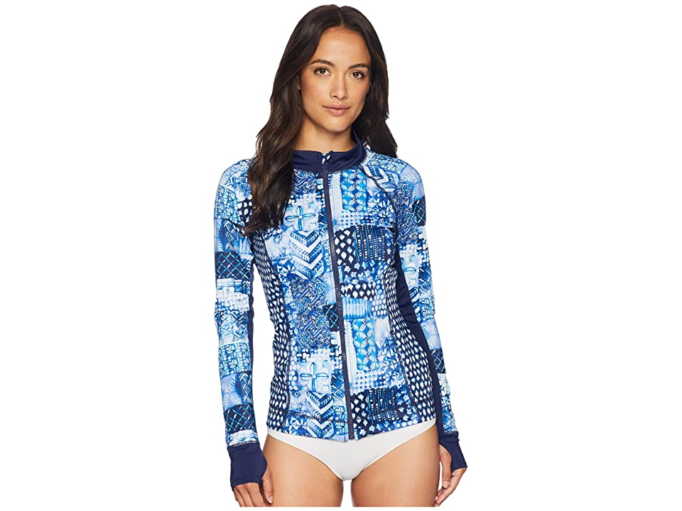 Tommy Bahama Active Patchwork Zip Jacket Cover-Up (Mare Navy) Women
