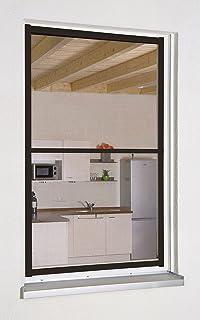 Culex 100690102-VH Fensterfliegengitter Master-Slim 130x150cm braun