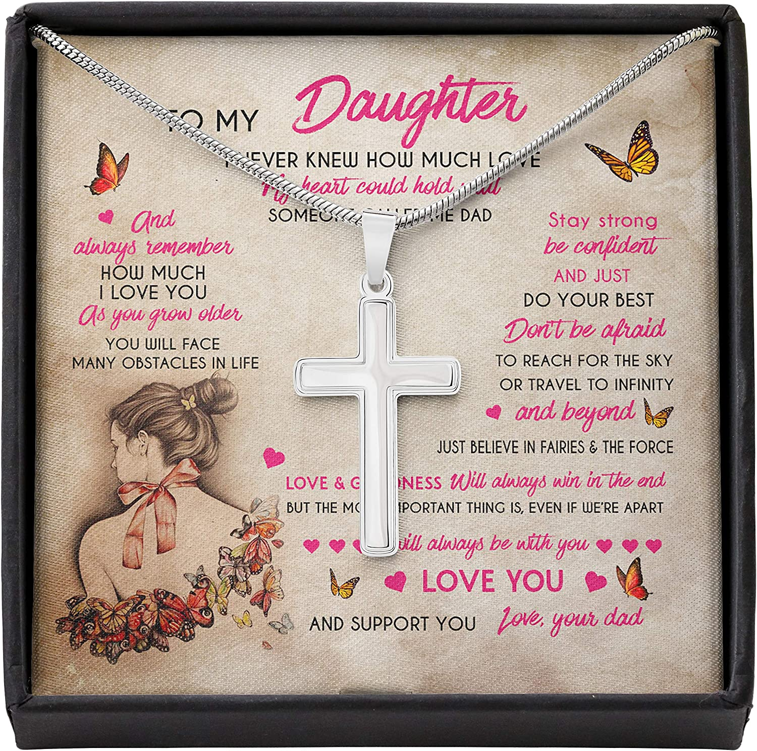 Larvincy to My Daughter from Dad Alluring Product Best Your Do Butterfly New product!!