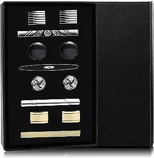 دکمه های دکمه دار و دکمه ای مردانه YADOCA پیراهن های کسب و کار پیراهن های عروسی Tuxedo دکمه های عروسی با جعبه نقره ای و طلایی با رنگ سیاه