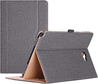 ProCase Galaxy Tab A 10.1 with S Pen Case 2016 Old Model - Stand Folio Case Cover for Galaxy Tab A 10.1 Inch Tablet with S Pen SM-P580, with Multiple Viewing Angles, Document Card Pocket - Grey