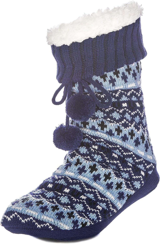 Noble Mount Womens Arctic Tall Slipper Socks