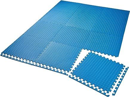 TecTake Lot de tapis de protection tapis de fitness | Antidérapant, antitaches | Système emboîtable extensible - diverses quantités et modèles