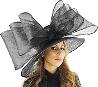 Hats By Cressida Gorgeous Magpie Sinamay Bow Ascot Derby Wedding Hat - Available in 40 Colours