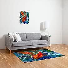 Deny Designs Elizabeth St Hilaire Nelson Koi Woven Rug, 2 x 3