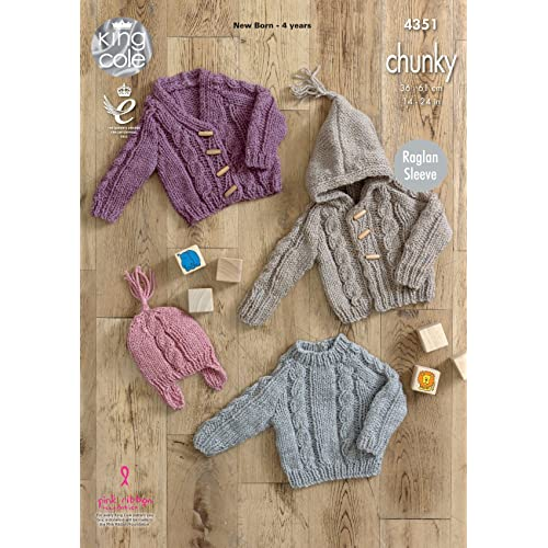 ADULT 4-in-1 FISHERMAN Design by Louise Knitting Pattern 56 Sweater Cardi /& Vest
