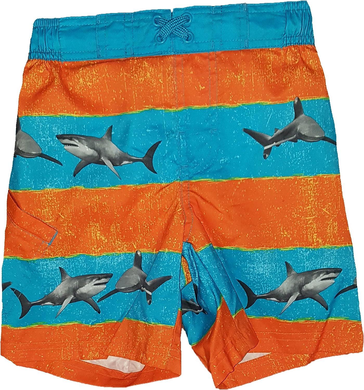 Wonder Nation Sharks On Orange and Trunk Swim Stripes Cheap Sale price super special price Boys Blue