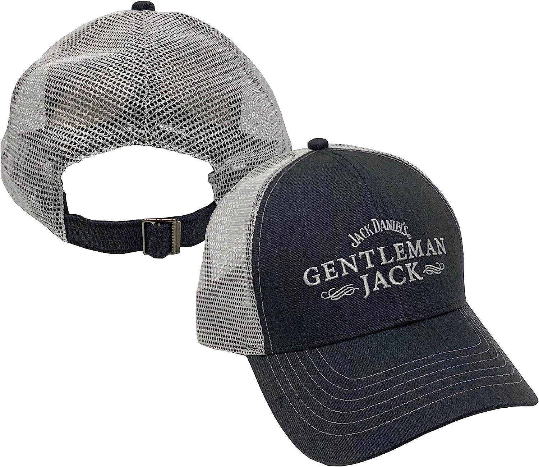 Jack Daniel's Official Gentleman Jack Granite Cap - Structured 6 Panel Hat for Men - Lightweight & Breathable Mesh