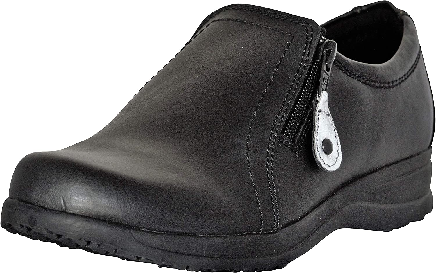 Dr. Scholl's Comfort Women shoes Genuine Leather Gel Cushioned Black Loafer