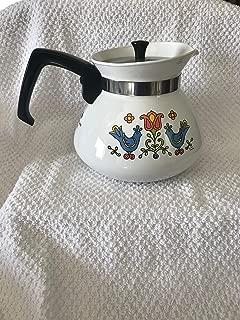CORNING WARE TEA POT FRIENDSHIP COUNTRY FESTIVAL P 104~CORNING VTG COFFEE-TEA POT 6 cups