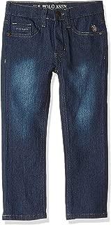 U.S. POLO ASSN. Big Boys' Straight Leg Jean, Rip Repair Medium Dark Wash, 12