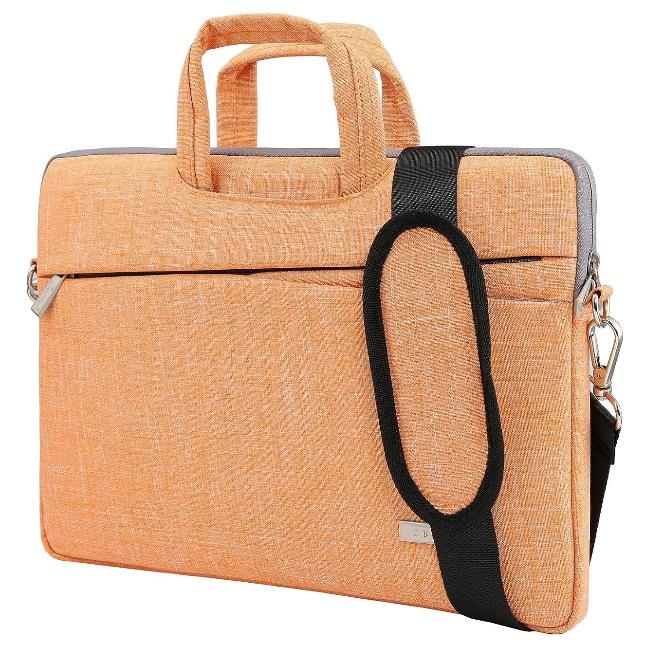Cerro Laptop Shoulder Bag 15.6 inch,Laptop Case Sleeve,Business Briefcase Computer Bag Carrying Handle 15-15.6 inch Ultrabook (15.6 Inch, Orange)