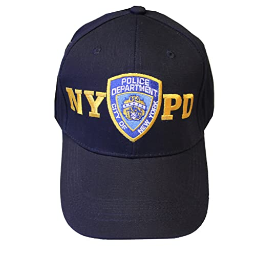 2817e43811d7e NYPD Baseball Hat New York Police Department Navy   Gold One Size