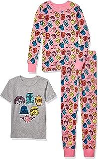 Spotted Zebra by Star Wars - Girls' Toddler & Kids Star Wars 3-Piece Snug-fit Cotton Pajama Set