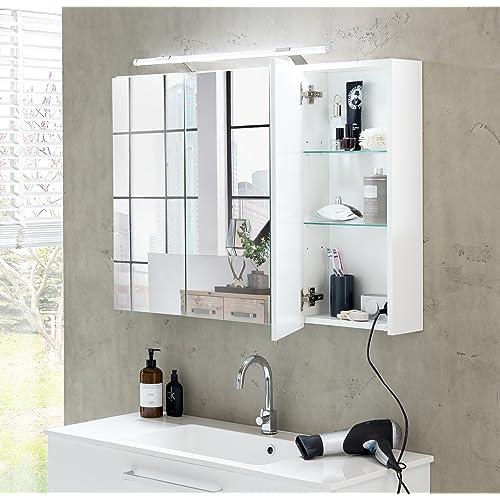 Alibert Spiegelschrank Mit Beleuchtung Und Steckdose Amazonde