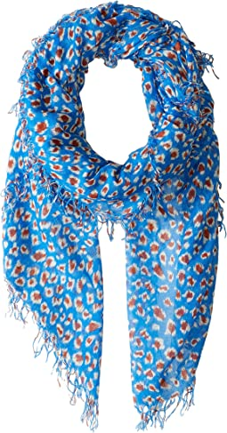 Leopard Cashmere and Silk Scarf