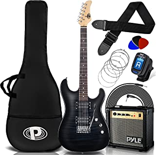 "Electric Guitar and Amp Kit - 39.4"" Full Size Electric Guitar Humbucker Pickups Bundle Beginner Starter Package w/ Amplifi..."