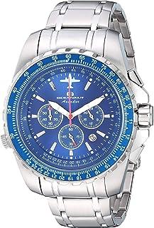 ساعة اوشينت افيادور بايلوت كوارتز بسوار ستانلس ستيل، فضي، 20 كاجوال (OC0114)