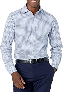 Buttoned Down Mens Tailored Fit Spread Collar Pattern Dress Shirt