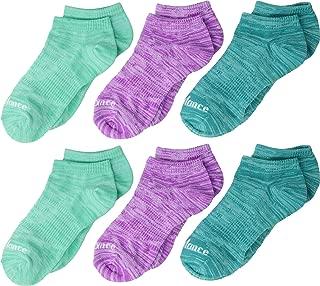 Kids' 6 Pack Flat Knit No Show Socks