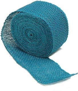 "Darice 2915-004 2.5"" x 10yd Burlap 240Gsm Ribbon Turquoise"