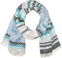 Textured Stripe Woven Scarf