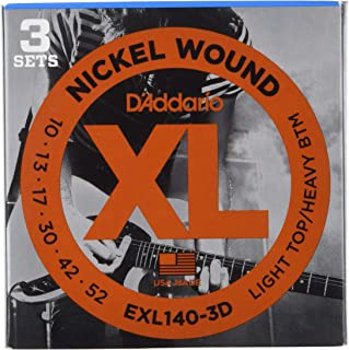 DAddario XL Nickel Wound Electric Guitar Strings, Light Top/Heavy Bottom Gauge