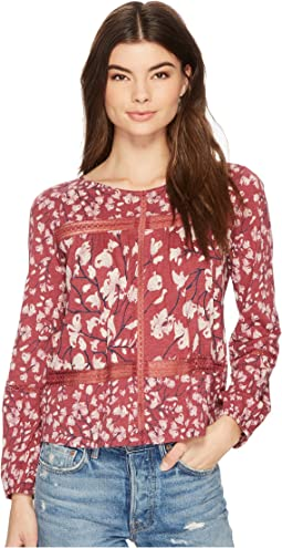 Lucky Brand - Printed Lace Insert Top