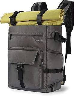 BAGSMART Camera Backpack Professional DSLR SLR Camera Bag Fit up to 200-400mm Lens, 15.6inch Laptop, DJI Mavic Pro with Waterproof Rain Cover, Tripod Holder, Gray&Green