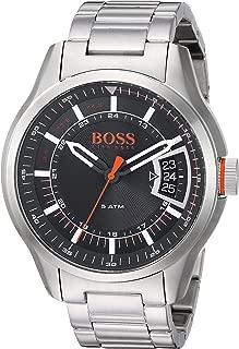 BOSS Orange Men's Quartz Watch with Stainless-Steel Strap, Silver, 22 (Model: 1550004)