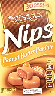 Nips Peanut Butter Parfait Candy, 4-Ounce Boxes (Pack of 12)