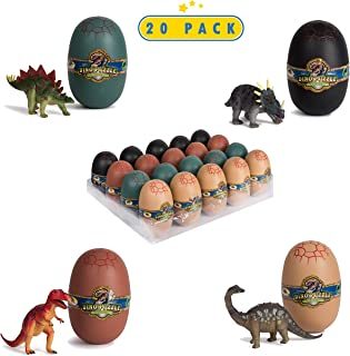 20 3D Dinosaur Puzzles in Dino Eggs - Jurassic Egg with Dinosaur Figures- Dinosaurs Toys for Kids Party Favors and Dinosaur Party, Easter Basket Fillers Easter Eggs Toys for Boys