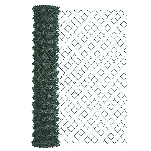Garden PVC Chain Link Fence Fencing Roll Galvanized Steel Straining Wire 5FT//8FT
